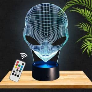 lampe 3D Alien extraterrestre lampephoto.fr