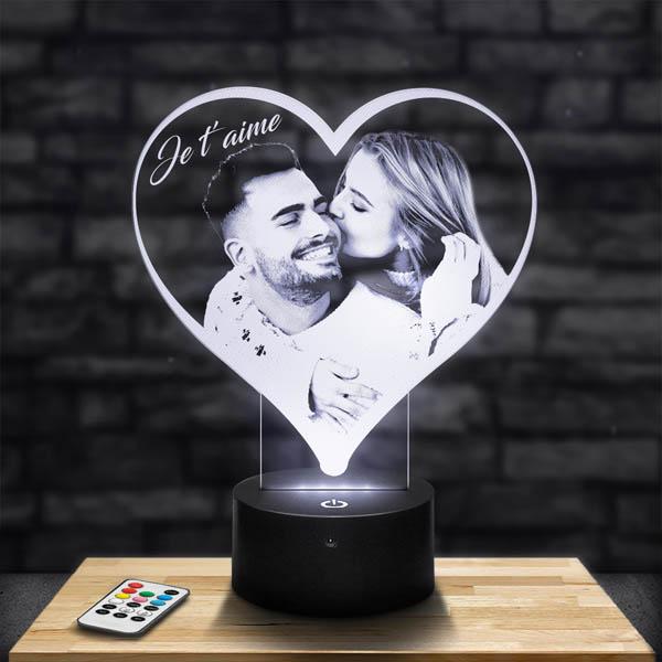 Lampe 3D personnalisée Coeur