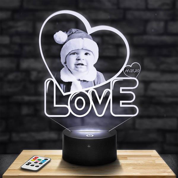 Lampe photo personnalisée coeur love lampephoto.fr