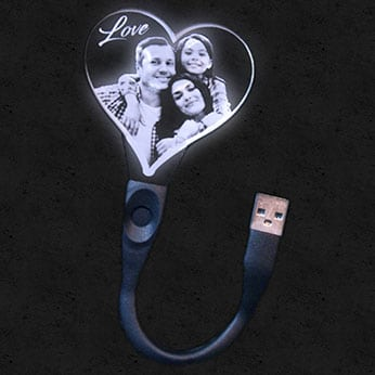 Lampe USB Flexible Personnalisée Coeur