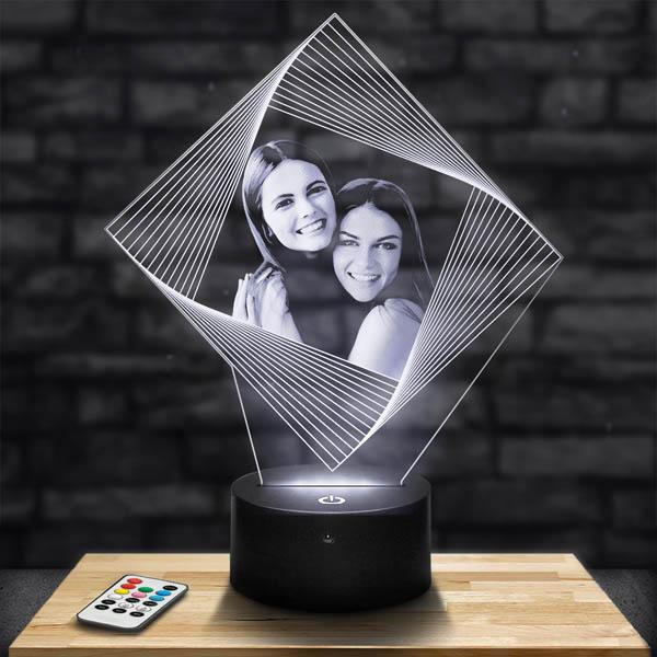 Lampe Personnalisée Losange Illusion