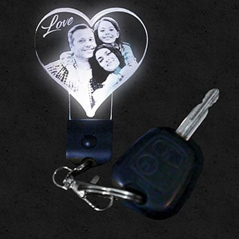 Porte clef lumineux personnalisée photo lampephoto.fr