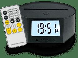 Socle Réveil Matin 7 couleurs tactile + télécommande (28€)