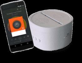 Socle Enceinte Bluetooth 5 couleurs (28€)