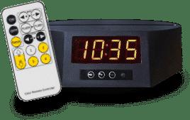 Socle Horloge 7 couleurs + télécommande (28€)