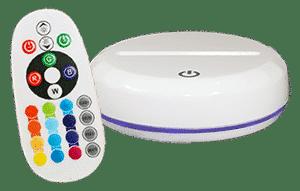 Socle Premium Blanc RVB 16 couleurs+ télécommande (23€)