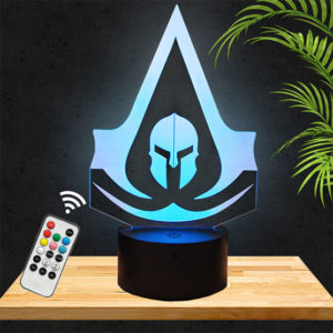 Lampe 3D Assassin's Creed Odyssey lampephoto.fr