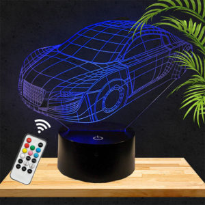 Lampe 3D Voiture Audi lampephoto.fr