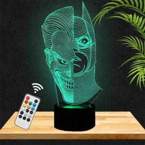 Lampe 3D Batman & Joker lampephoto.fr
