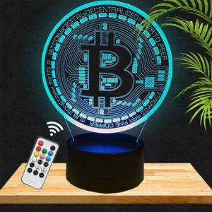 Lampe 3D Bitcoin lampephoto.fr