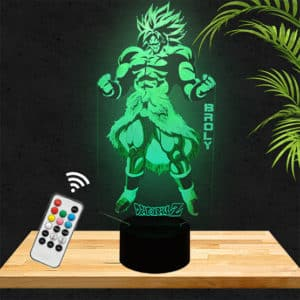 Lampe 3D Broly Dragon ball Z lampephoto.fr