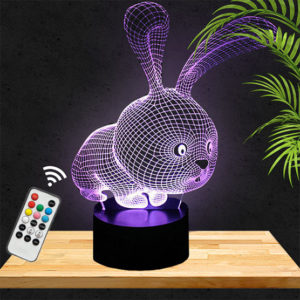Lampe 3D Lapin Mignon lampephoto.fr