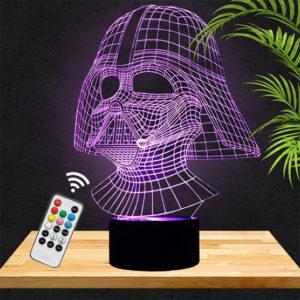 Lampe 3D Star Wars Dark Vador lampephoto.fr