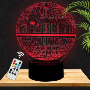 Lampe 3D Star Wars Etoile Noire lampephoto.fr