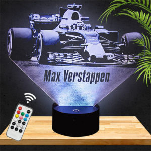 Lampe 3D F1 Max Verstappen lampephoto.fr