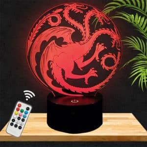 Lampe 3D Game of Thrones Targaryen lampephoto.fr