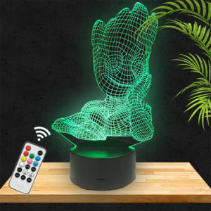 Lampe 3D Groot lampephoto.fr