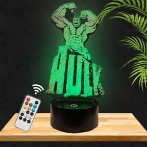 Lampe 3D Hulk lampephoto.fr