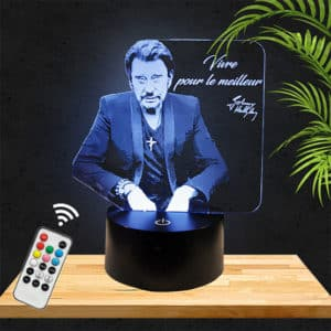 Lampe 3D Johnny Hallyday lampephoto.fr