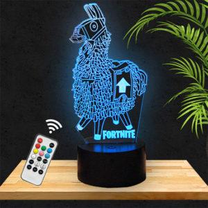 Lampe 3D Lama Fortnite lampephoto.fr
