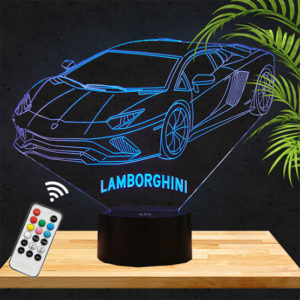 Lampe 3D Lamborghini voiture lampephoto.fr