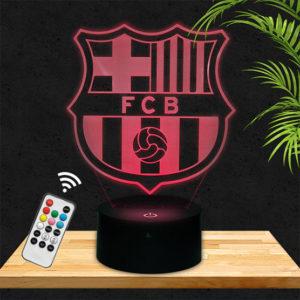 Lampe 3D Logo Barca FCB lampephoto.fr