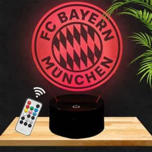 Lampe 3D Logo Bayern Munich lampephoto.fr