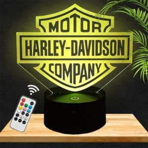 Lampe 3D Logo Harley Davidson lampephoto.fr