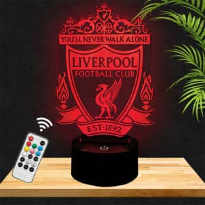 Lampe 3D Logo Liverpool lampephoto.fr