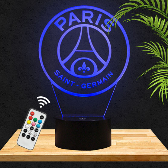 Lampe 3D logo PSG lampephoto.fr