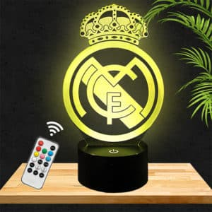 Lampe 3D Logo Real Madrid lampephoto.fr