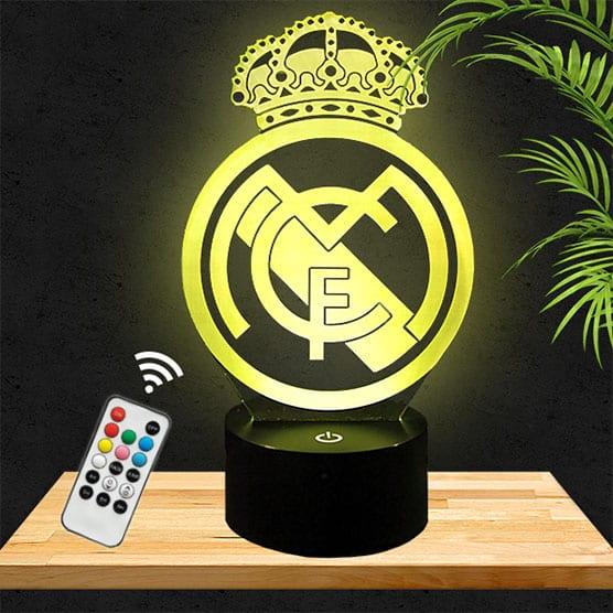 Lampe 3D Logo Real Madrid lampephoto.fr