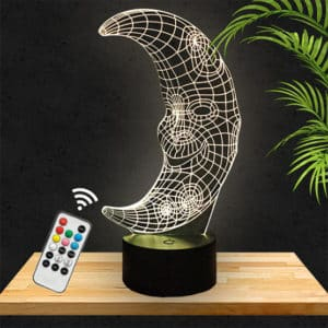Lampe 3D Lune lampephoto.fr