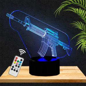 Lamp 3D fusil d'assaut M16 lampephoto.fr