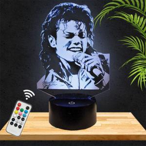 Lampe 3D Michael Jackson lampephoto.fr