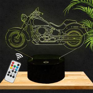 Lampe 3D Moto Harley Davidson lampephoto.fr