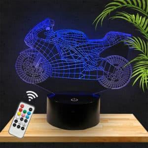 Lampe 3D Moto Sportive lampephoto.fr