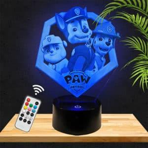 Lampe 3D Pat Patrouille Paw Patrol lampephoto.fr