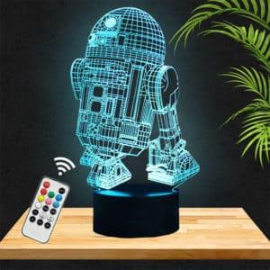 Lampe 3D Star Wars R2D2 lampephoto.fr