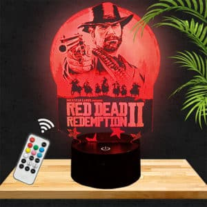 Lampe 3D Red Dead Redemption lampephoto.fr