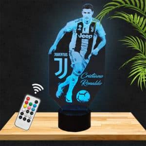 Lampe 3D Ronaldo Juventus Turin lampephoto.fr