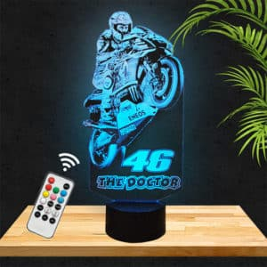 Lampe 3D Velentino Rossi 46 the doctor moto lampephoto.fr
