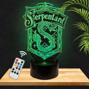 Lampe 3D Serpentard Harry Potter lampephoto.fr