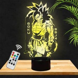 Lampe 3D Son Goku SSJ4 Dragon Ball Z lampephoto.fr