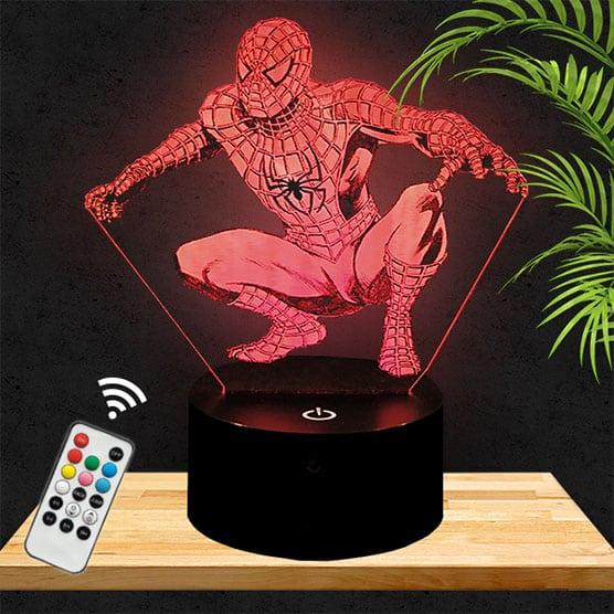 Lampe 3D Spider-Man lampephoto.fr