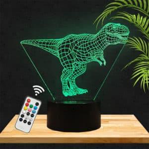 Lampe 3D Turannosaure Dinosaure lampephoto.fr