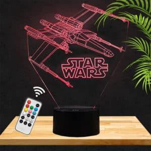 Lampe 3D Star Wars X Wing lampephoto.fr