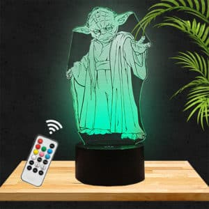 Lampe 3D Yoda Star Wars lampephoto.fr