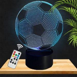 Lampe 3D Ballon de Foot lampephoto.fr