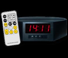 Socle Horloge Réveil 7 couleurs + télécommande (28€)